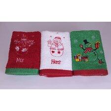 Snowman Family Wash Cloth