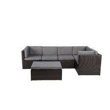Complete Patio PE Wicker Rattan Garden 6 Piece Deep Seating Group Set with Cushion