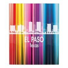 City II El Paso Texas by Angelina Vick Graphic Art on Wood Planks