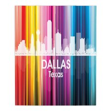 City II Dallas Texas by Angelina Vick Graphic Art on Wood Planks