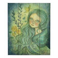 Butterfly Queen by Amalia K Painting Print on Wood Planks