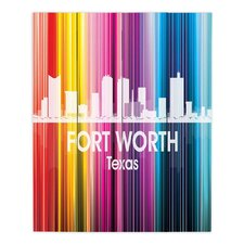 City II Fort Worth Texas by Angelina Vick Graphic Art on Wood Planks