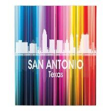 City II San Antonio Texas by Angelina Vick Graphic Art on Wood Planks