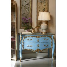 French Cerulean Antique 2 Drawer Chest