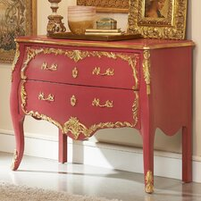 French Rose Antique 2 Drawer Chest