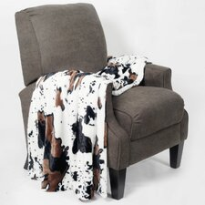 Cow Double Sided Faux Fur Throw