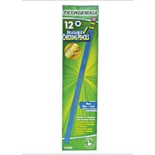 Ticonderoga Erasable Blue Colored Pencils
