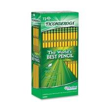 Ticonderoga Pencil w/ Eraser, No 2 Med, Yellow, 72-Pack