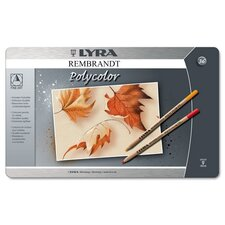 Lyra Artist Colored Woodcase Pencils, 36 Per Pack