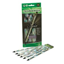 Ticonderoga Noir Holographic Woodcase Pencil, 12 Per Pack (Set of 2)