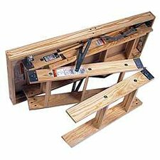 10 ft Wood Attic Ladder with 350 lb. Load Capacity