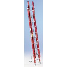 16 ft Fiberglass Extension Ladder with 300 lb. Load Capacity
