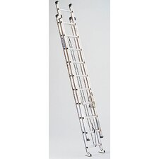 15 ft Aluminum Extension Ladder with 300 lb. Load Capacity