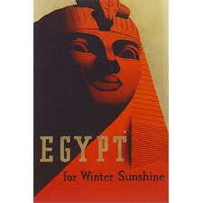 'Egypt Travel' Vintage Advertisement on Wrapped Canvas