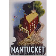 'Nantucket Travel' Vintage Advertisement on Wrapped Canvas