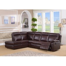 Portland Leather Recliner Sectional