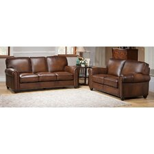 Aspen Leather Sofa and Loveseat Set