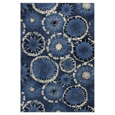 Allure Starburst Blue Area Rug