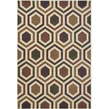 Corinthian Ivory & Plum Windows Area Rug