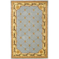 Jewel Wedgewood Blue Fleur-De-Lis Outdoor Area Rug