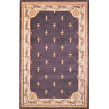Jewel Fleur-De-Lis Grape Rug
