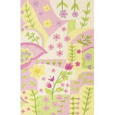 Kidding Around Princess Dreams Pink/Green Area Rug
