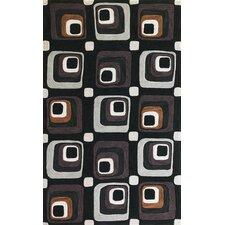 Milan Charcoal Squares Rug
