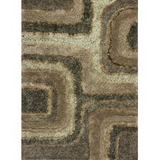 Optic Textures Brown Area Rug