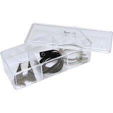 Boreal 3 Compartment Display Bath Jewelry and Cosmetic Box with Cover