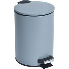 0.8 Gal. Round Metal Toilet Step Trash Can