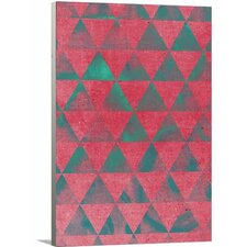 Modern Teal and Pink Wall Art on Wrapped Canvas
