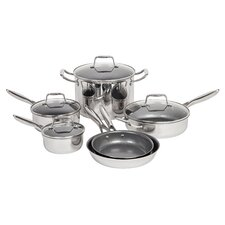 10 Piece Non-Stick Stainless Steel Cookware Set