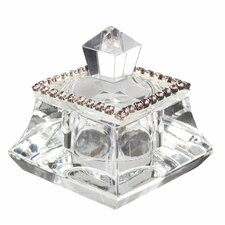 Italian Crystal Trinket Box with Swarovski
