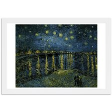 'Van Gogh - Starry Night 1888' Framed Painting Print in Blue and Green