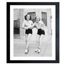'Roller Girls' Framed Photographic Print