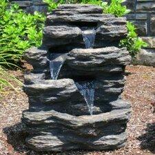 Resin and Fiberglass Rock Waterfall Fountain