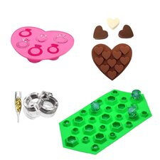 3 Piece Non-Stick Engaged Silicone Mold Set (Set of 3)