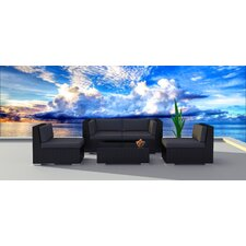 Black Series 5 Piece Deep Seating Group with Cushion