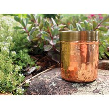 Hammered Copper Spice Jar