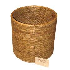 Rattan Straight Round Waste Basket