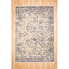 HB Alex Washed Cream and Light Gray Area Rug