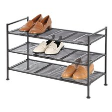 3 Tier Metal Mesh Shoe Rack