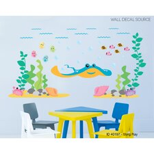 Ocean,Under the Sea, Fish and Sting Ray Vinyl Wall Decal