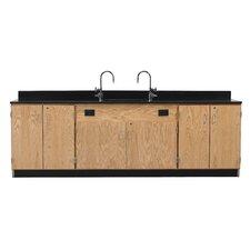 Wall Service Bench With Door