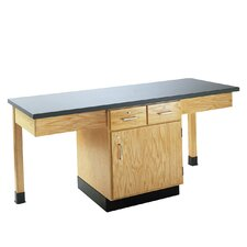 4 Station Science Table With Storage Cabinet and Drawers