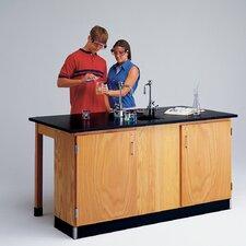 Labview 2 Student Workstation With Door Cabinet