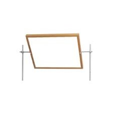 Mirror Free Standing Combination Whiteboard, 2' x 2'