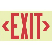 Glo Brite® Eco Unframed Exit Signs - glo brite eco unframed exit signs red text