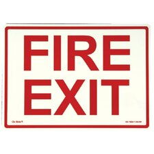 Glow In The Dark Exit Signs - peel and stick eg sign glow background; red text