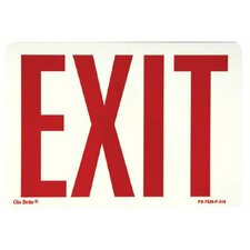 Glow In The Dark Exit Signs - glow in the dark fire sign  peel and stick